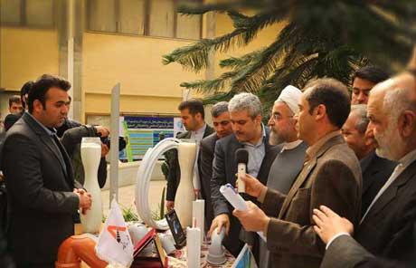 رونمایی از محصولات شرکت آریاپلیمر پیشگام توسط ریاست محترم جمهور، جناب آقای دکتر روحانی