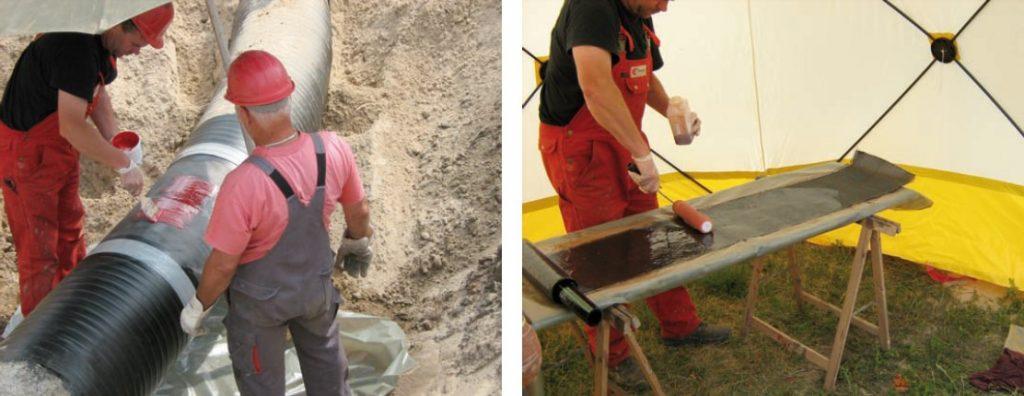 فناوری پخت در محل تعمیر لوله