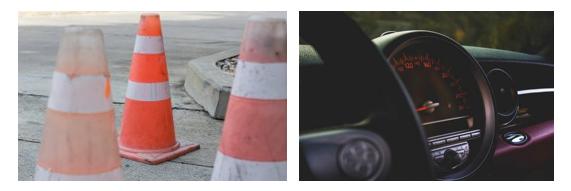 شکل 8: استفاده از پایدارکنندههای UV در قطعات پلاستیکی داخلی اتومبیل و موانع ترافیکی-مقاومت در برابر نور UV