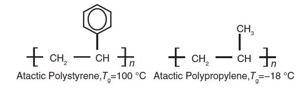 اثر وجود گروه بالکی بر دمای انتقال شیشه ای