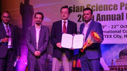 جایزه طلایی پارک های علم و فناوری آسیا