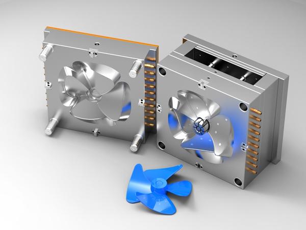 شکل1) محل قرار گرفتن قالب در دستگاه تزریق