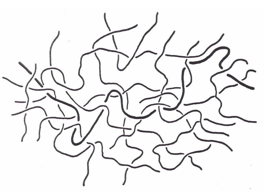 شکل9: شمایی از یک پلیمر آمورف