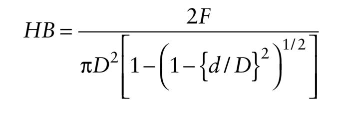 معادله سختی Brinell